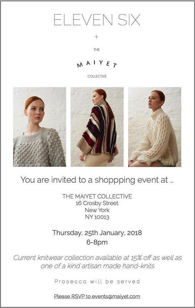 Eleven Six + The Maiyet Collective Shopping Event