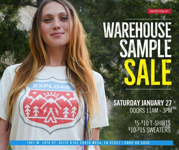 The Poster List Warehouse Sample Sale