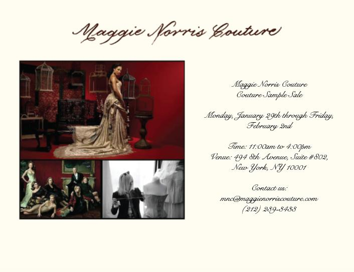 Maggie Norris Couture Sample Sale