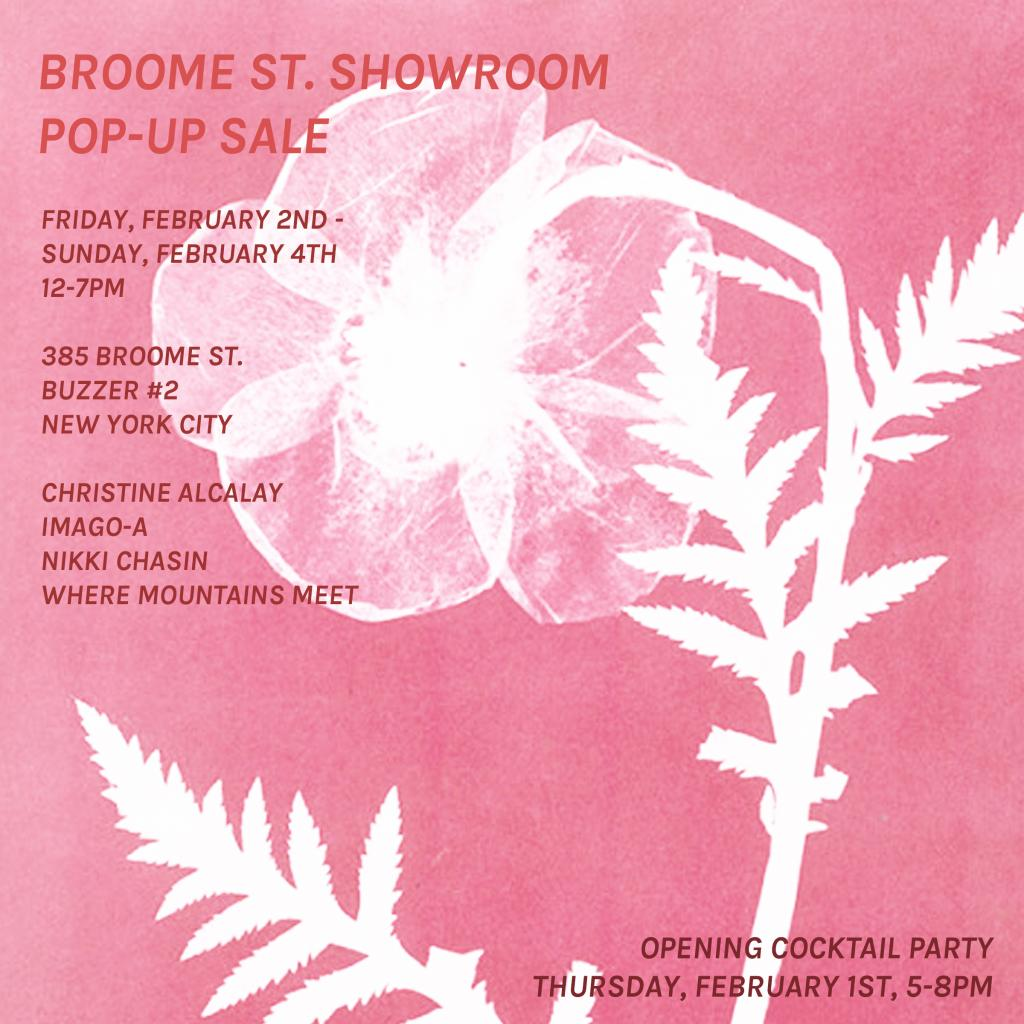 Broome Street Showroom Pop-Up Sale