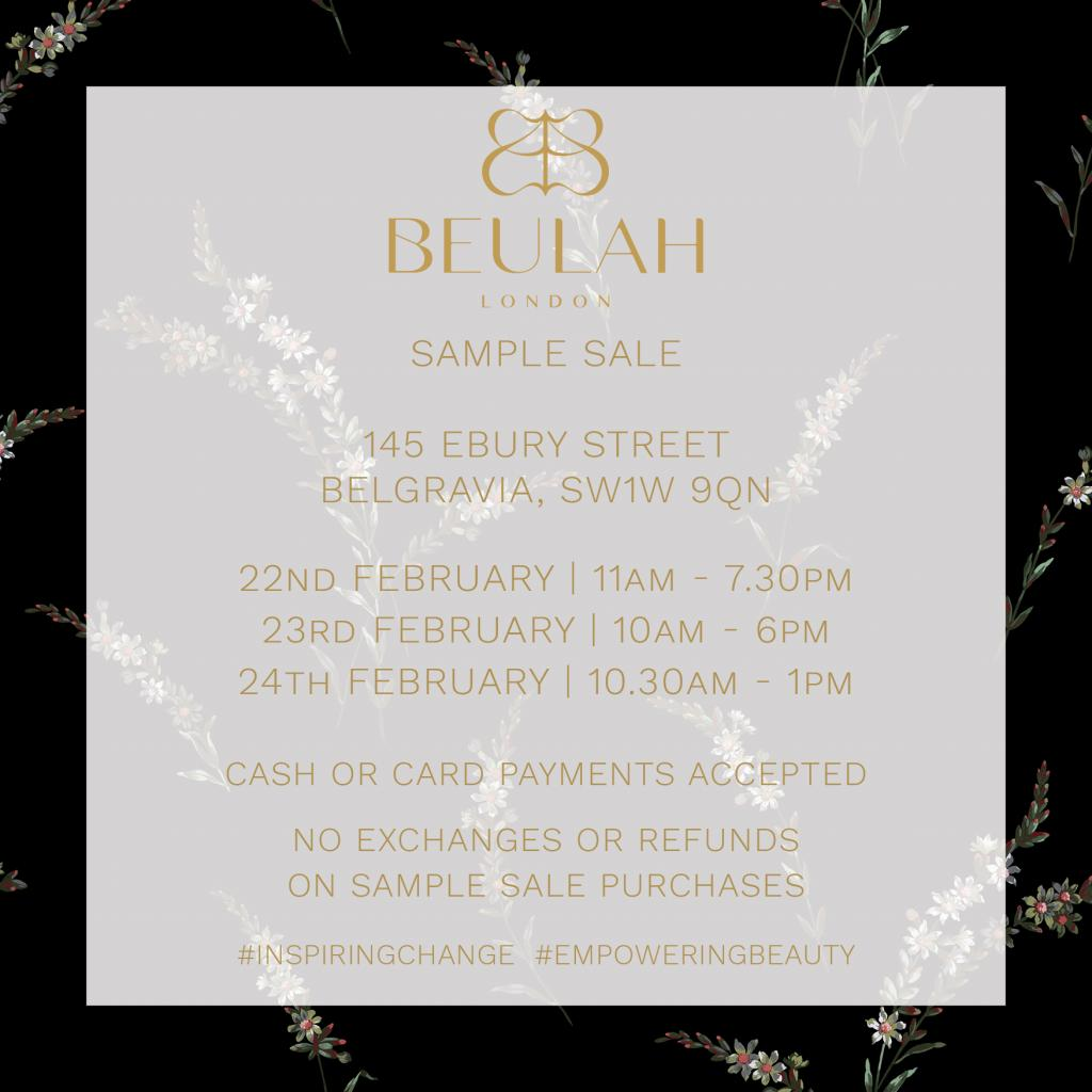 Beulah London Sample Sale