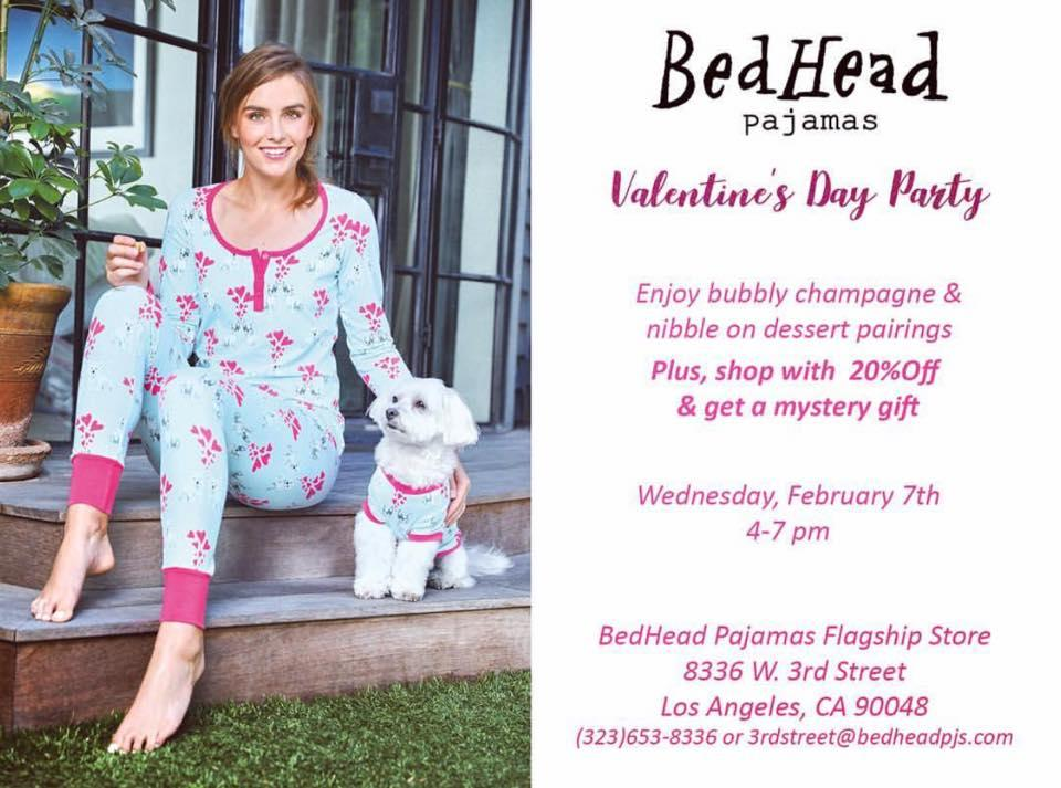 BedHead Pajamas Valentine's Day Party