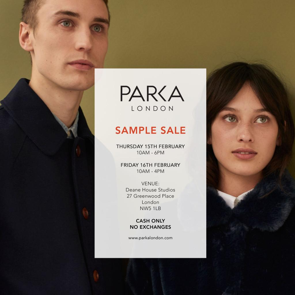 Parka London Sample Sale