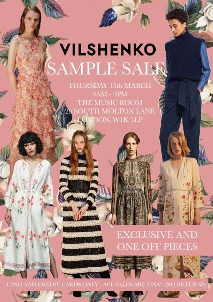 Vilshenko Sample Sale