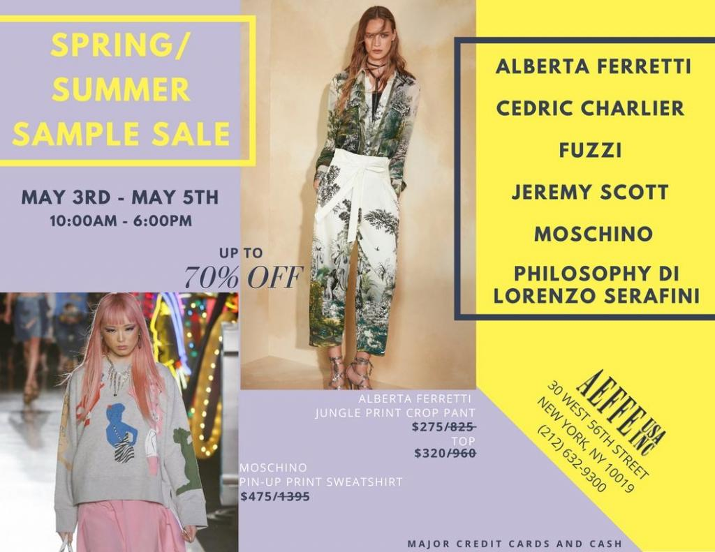 AEFFE USA Spring/Summer 2018 Sample Sale