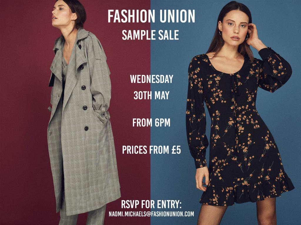 Fashion Union Sample Sale