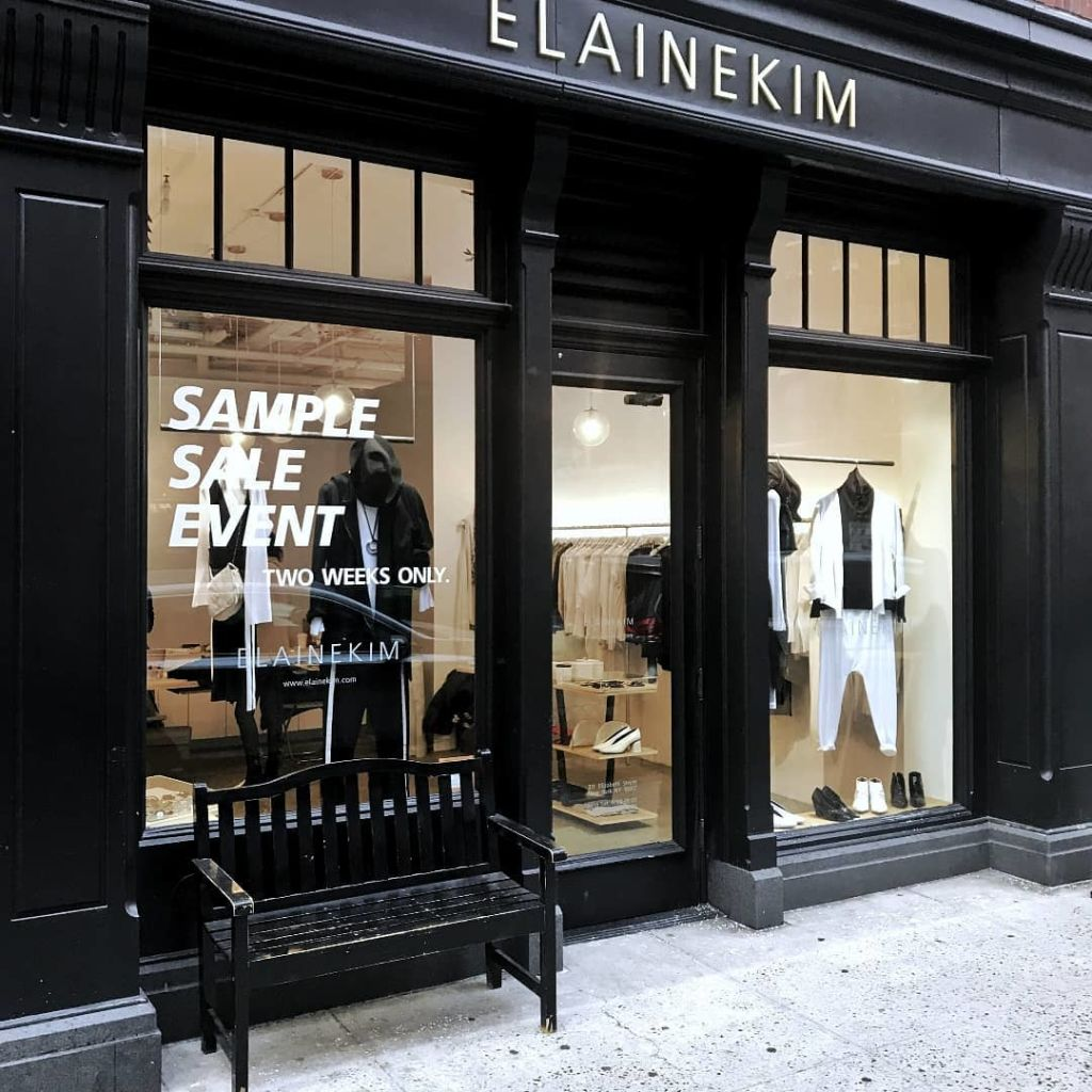Elaine Kim Sample Sale, New York, February 2019