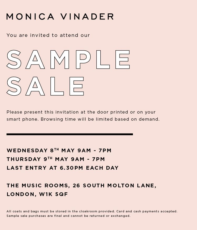 Monica Vinader Sample Sale
