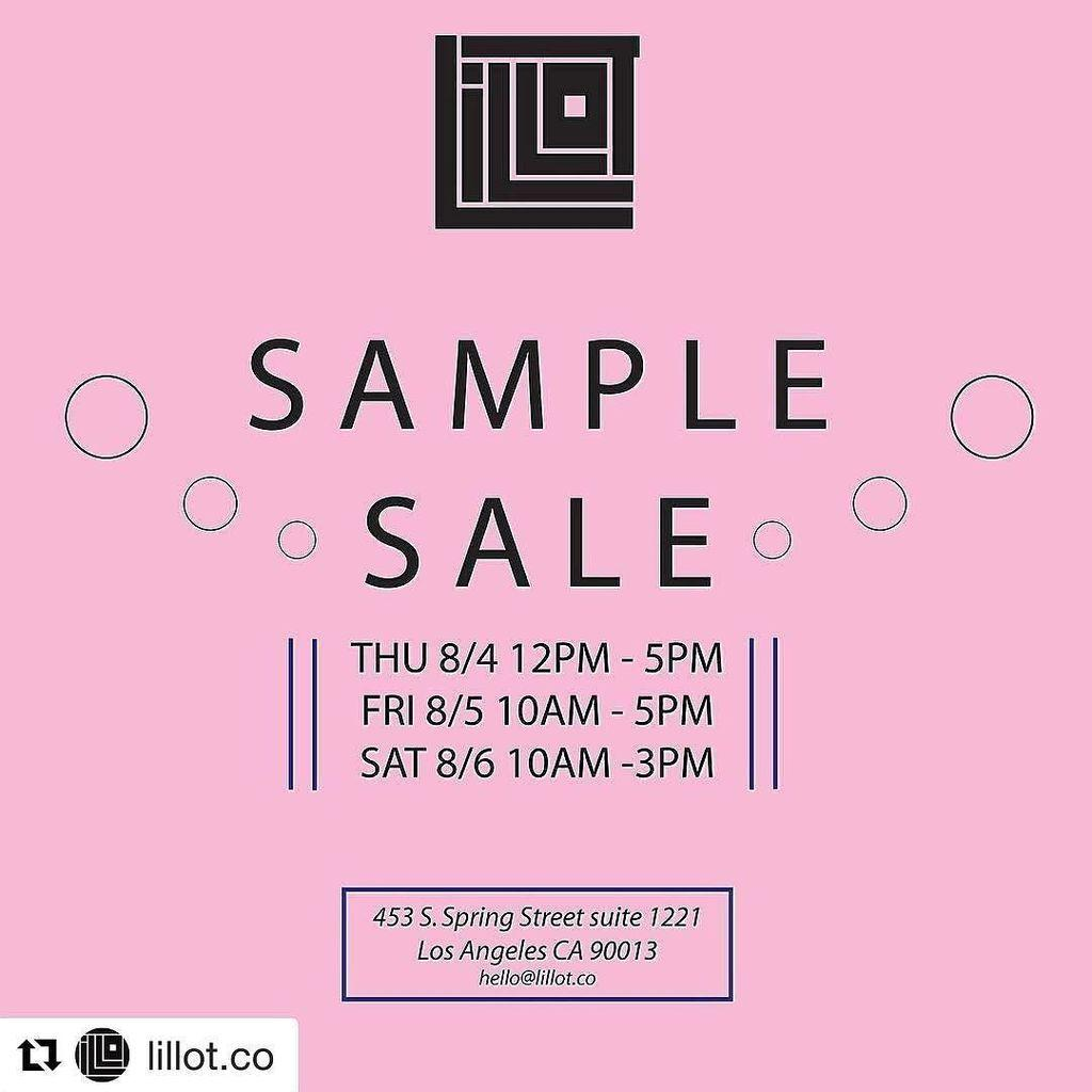 Lillot jewelry sample sale los angeles august 2016 for August jewelry store los angeles