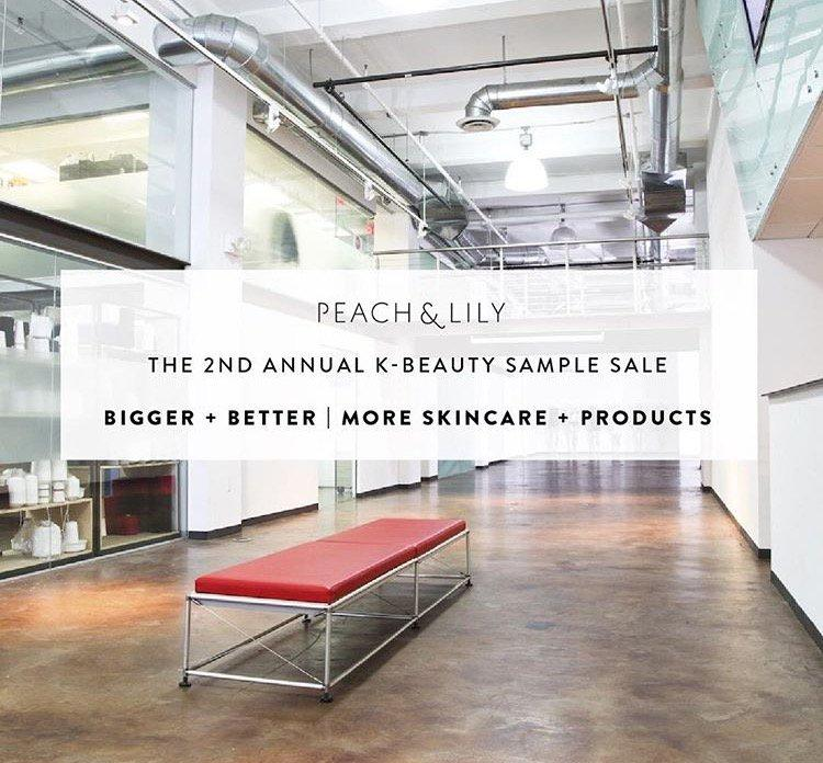 Peach & lily 3rd annual korean beauty one day sample sale.