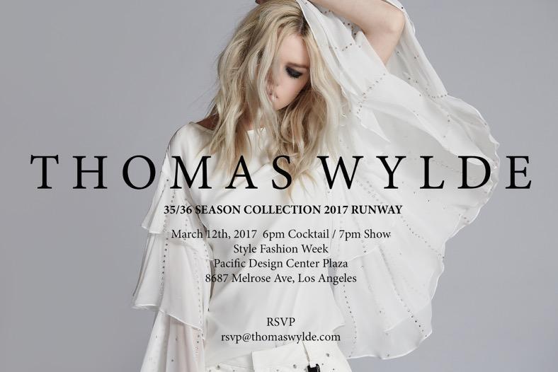 Thomas Wylde Fashion Show Los Angeles March 2017