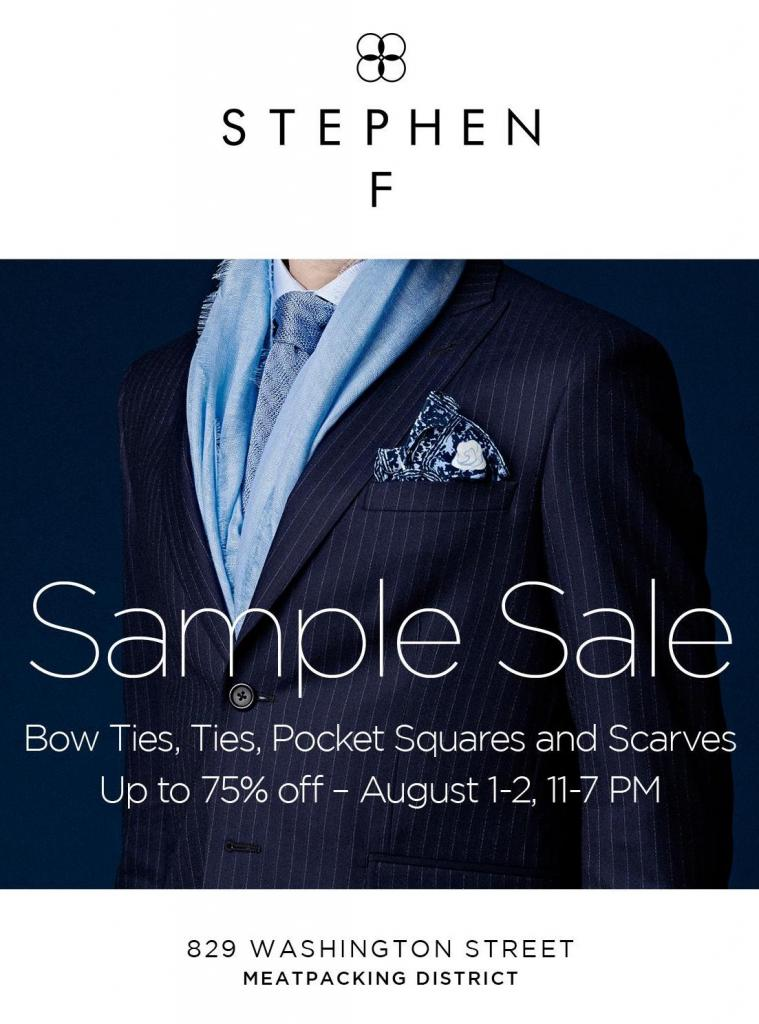 Stephen F August Sample Sale