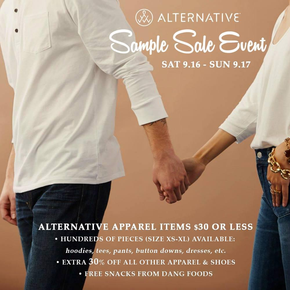 Alternative Apparel Sample Sale Event